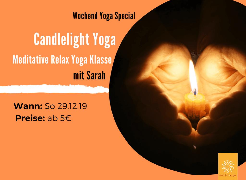Candlelight Yoga | Meditative Relax Yoga Special mit Sarah