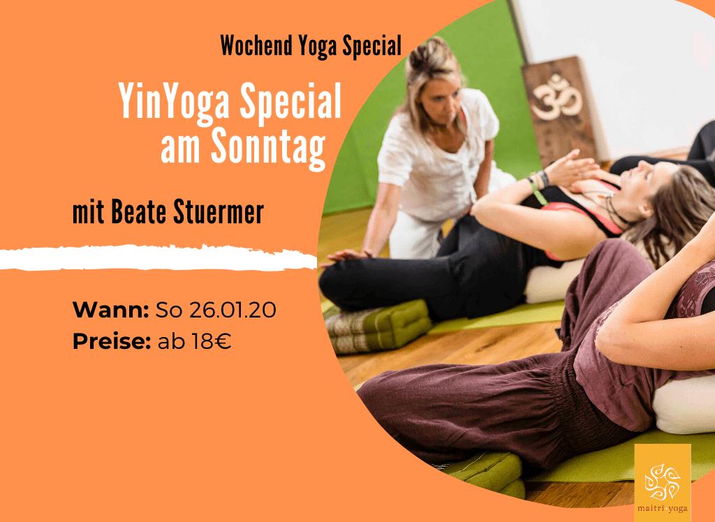 YinYoga mit Beate | 4. Sonntag im Monat