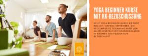 NEUE Yoga Beginner-Kurse ab  November´19 mit Krankenkassen Bezuschussung