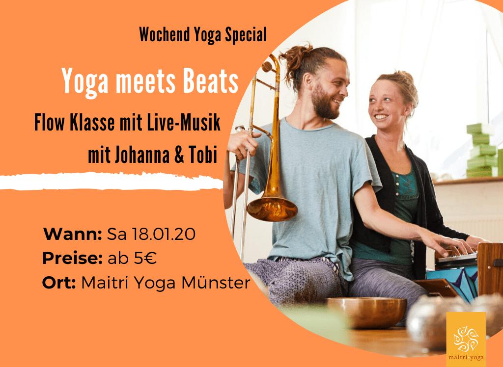 Yoga meets Beats | Yoga Flow Special mit Livemusik
