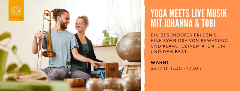 Yoga mit Live Musik | Eine musikalische Yogareise mit Johanna & Tobi