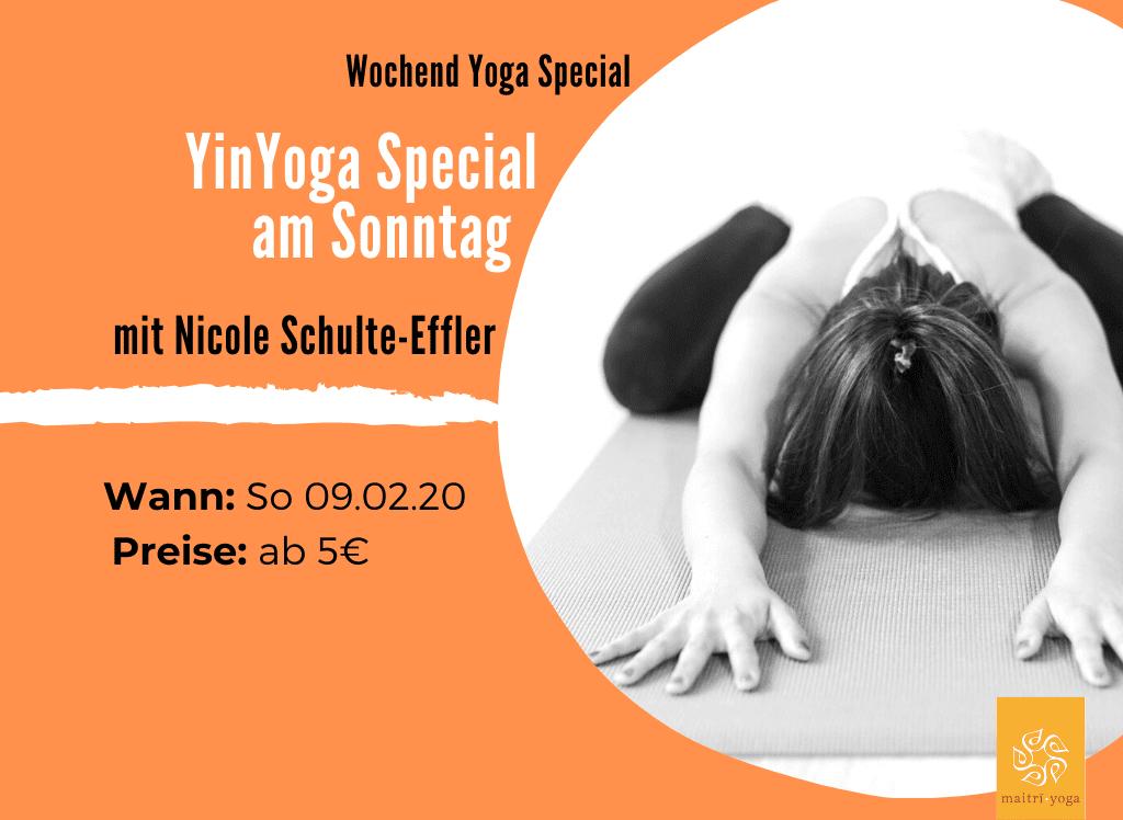 YinYoga Special mit Nicole | 120min