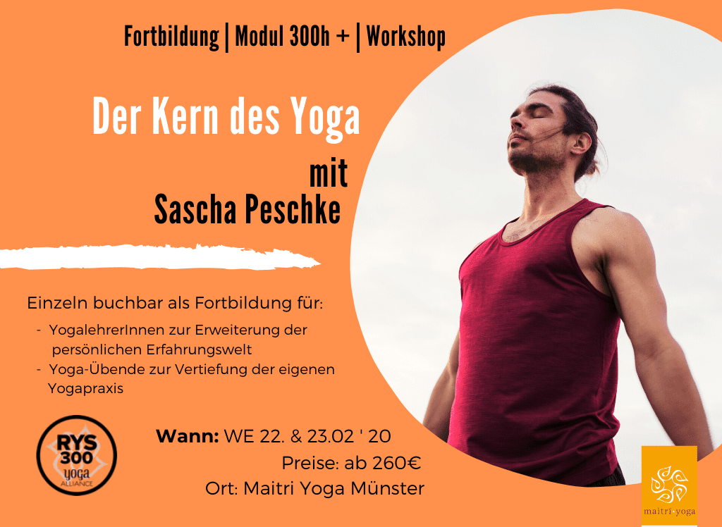 Der Kern des Yoga    mit Sascha Peschke