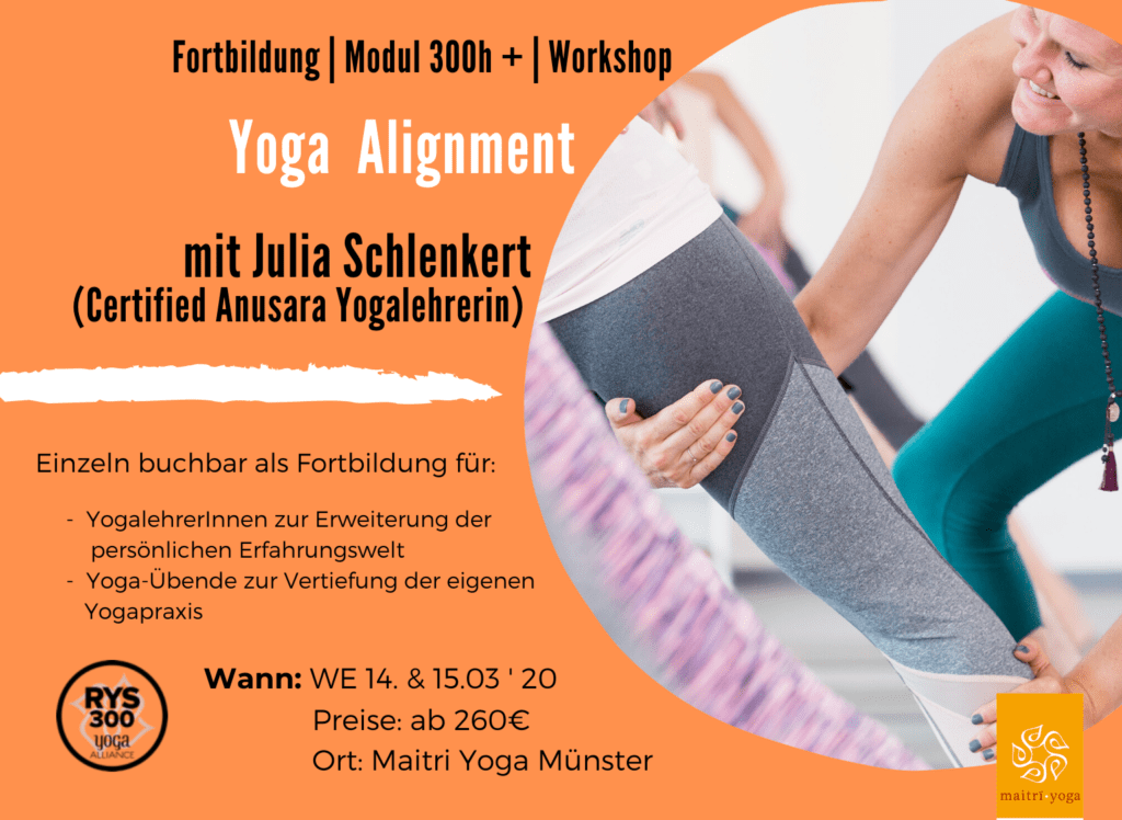 Anusara Yoga Alignment mit Julia Schlenkert | Fortbildung & Modul 300h +