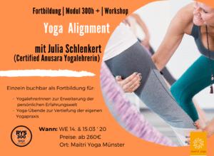 Anusara Yoga Alignment mit Julia Schlenkert | Fortbildung & Modul 300h +