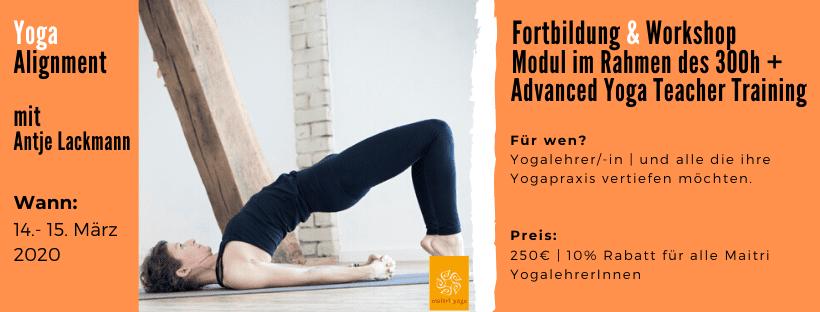 Yoga Alignment | Fortbildung & Workshop mit Antje Lackmann