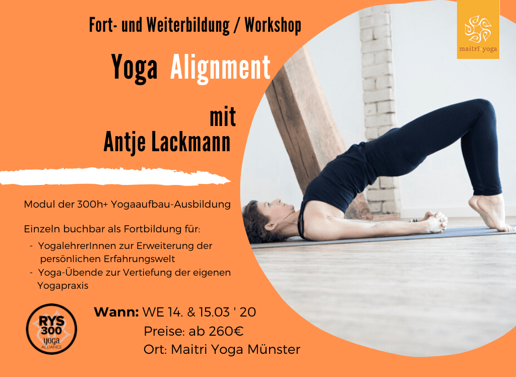Yoga Alignment mit Antje Lackmann | Fortbildung & Modul 300h +