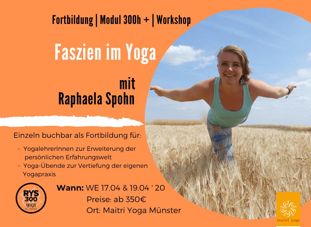 Faszien im Yoga | Fortbildung & Modul 300h +