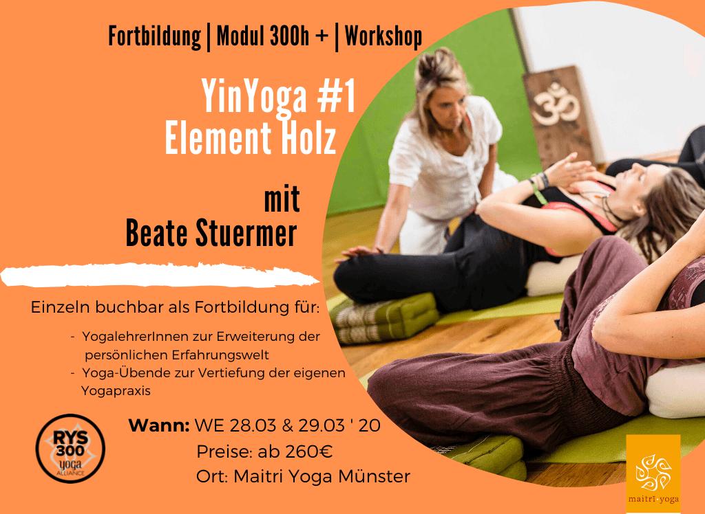 YinYoga Ausbildung # 1 Element Holz   Fortbildung & Modul 300h +