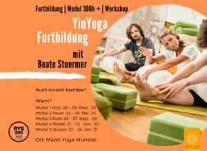 Neu: YinYoga Fort-und Weiterbildung (100h) mit Beate Stuermer