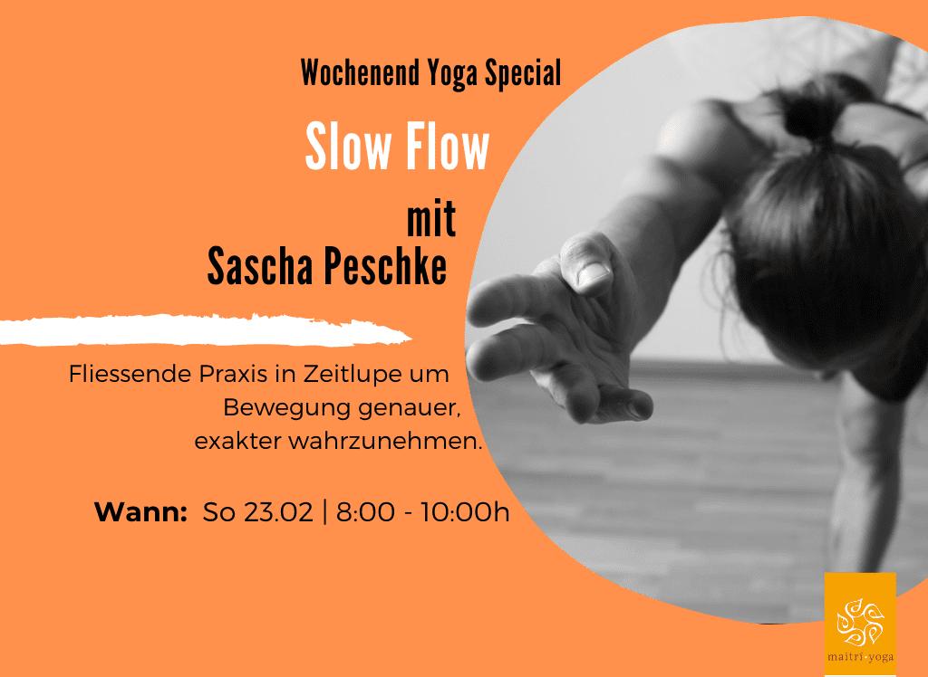 Slow Flow Yoga mit Sascha Peschke