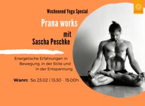 Prana works mit Sascha Peschke   Patrick Broome Yoga München