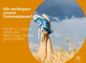 Wir verlängern unsere Sommerpause! Ab Mi 12. August geht´s weiter...