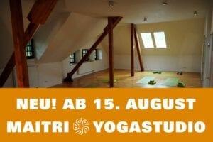 Neueröffnung Maitri Yoga Studio am Kulturbahnhof in Hiltrup am WE 15. & 16. August 2020 mit kostenlosen Yogastunden für alle Level