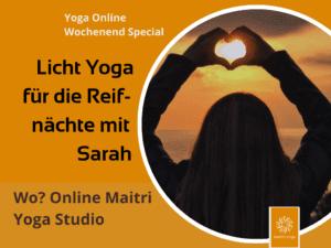 Licht Yoga mit Sarah